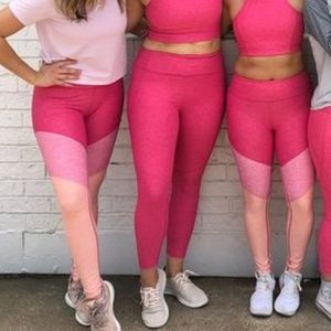 Outdoor Voices Pants - Outdoor Voices 3/4 Warmup Leggings - Pink Flamingo